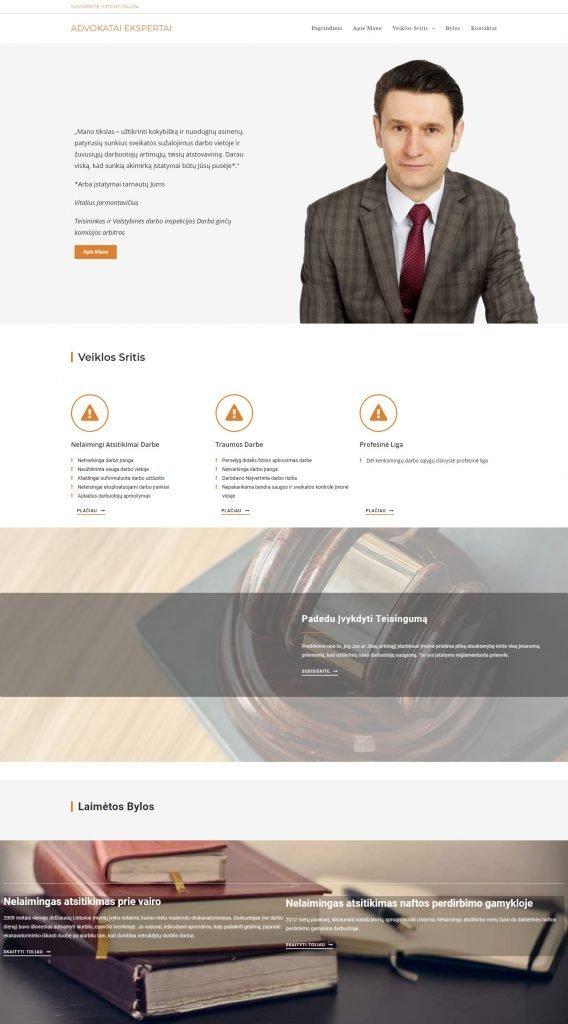 Internetinių Svetainių Kūrimas: advokatai ekspertai pagridinis puslapis