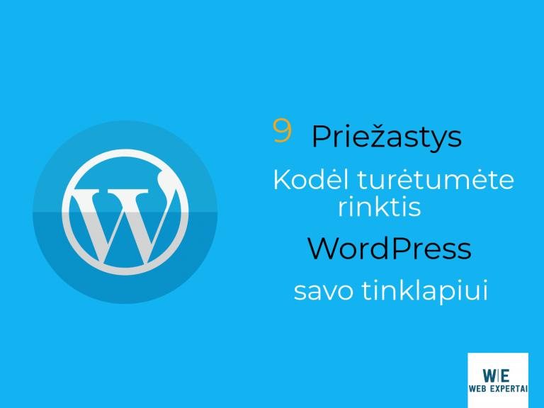 9 Priežastys kodėl turėtumėte rinktis WordPress savo tinklapiui